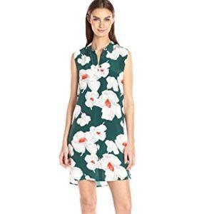 Equipment Janna Green Floral Button Down Dress